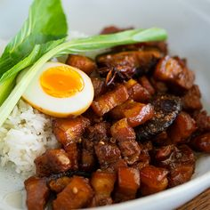 Taiwanese Braised Pork & Rice – Marion's Kitchen Recipes With Pork Chunks, Taiwanese Cuisine, Taiwanese Recipe, Ginger Pork, Braised Pork Belly, Pork Belly Recipes, How To Cook Rice, Beef And Noodles, Pork Dishes