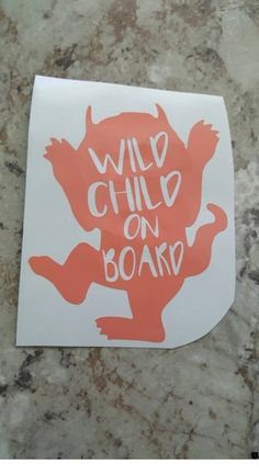 Where The Wild Things Are Wild Child Baby On Board Car Window Decals Custom Vinyl Decals Wild Ch Decals for men Decals stickers Decals motorcycle window Decals Decals design truck Decals Decals supermoto vehicle Decals skull Decals how to make Decals Cute Car Decals, Car Window Decals, Vinyl Decals, Decals For Cars, Wall Decals, Wall Vinyl, Window Stickers, Cricut Vinyl, Wall Art