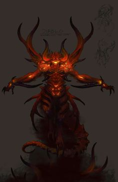 View an image titled 'Diablo Concept Art' in our Diablo III art gallery featuring official character designs, concept art, and promo pictures. Mythological Creatures, Fantasy Creatures, Mythical Creatures, Fantasy Concept Art, Dark Fantasy, Fantasy Art, My Demons, Angels And Demons, Twilight Princess