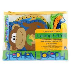 Lacing Card Set for toddlers | Zoo Lacing Card Set