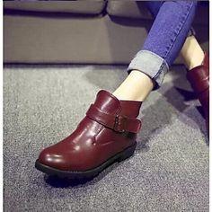 8d4256283b2   22.99  zapatos de las mujeres Smandy punta redonda botín tacón plano más  colores disponibles