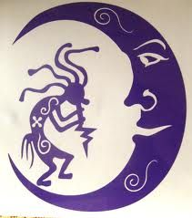 I was thinking this moon with the other tattoos kokopelli