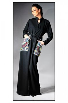 This is the image gallery of 5 Different Abaya Designs for Girls You are currently viewing Formal Wear Latest Fashion Abaya. All other images fr. Modern Abaya, Modern Hijab Fashion, Abaya Fashion, Modest Fashion, Fashion Outfits, Fashion Ideas, Women's Fashion, Abaya Designs, Modele Hijab