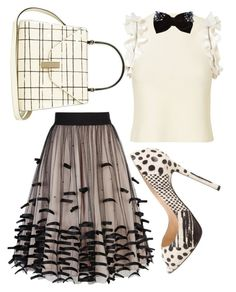 """""""Textured and Lectured"""" by fashionforwarded ❤ liked on Polyvore featuring 3.1 Phillip Lim, New Look, Coast, Christian Louboutin and Valextra"""