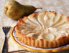 Yum!  Pear Almond Tart (with not crust) - Recipe
