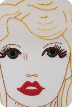pin up embroidery - perfection!