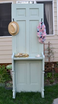 Upcycled Entry Table by My Creative Days Furniture, Entry Table, Recycled Door, Doors Repurposed, Reused Furniture, Diy Door, Repurposed Furniture, Upcycle Door, Door Inspiration