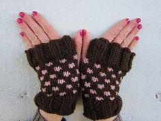 Polkadot Fingerless Gloves