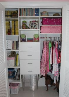 Decorations:Small Girls Bedroom Organization With White Wooden Closet Plus Shelves Also White Drawers Storage How to Organize Cute Girls Closet Ideas
