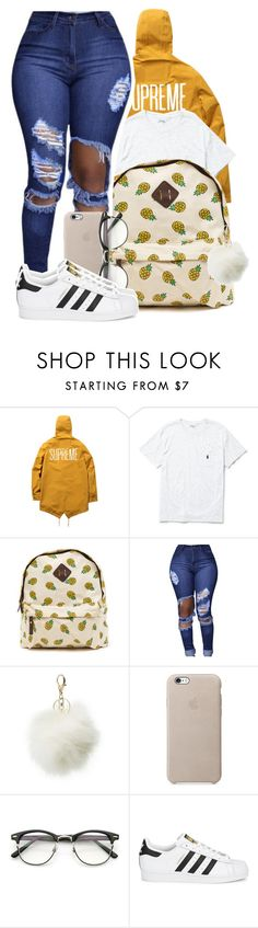 """ I vibe with your mental because you get me "" by mindlesspolyvore ❤ liked on Polyvore featuring Ralph Lauren, Charlotte Russe and adidas Originals"