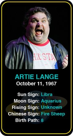 Celeb #Libra birthdays: Artie Lange's astrology info! Sign up here to see more:   www.astroconnects.com #astrology #horoscope #zodiac #birthchart #natalchart #artielange