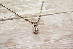 Just a Kettle Bell Fitness Necklace by BeastModeJewelry on Etsy