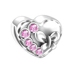 SOUFEEL Swarovski Crystal Present Shape in Heart Charm 925 Sterling Silver Fit European Bracelets. SOUFEEL products are genuine 925 Sterling Silver. The material of the item consists of 92.5% silver combined with other metals; 100% safe for sensitive skin. Most items are in stock in US Local Warehouse. SOUFEEL charms' hole size is between 4.2mm-5.5mm. Most charms and beads are compatible with most U.S. and European bracelets and necklaces. SOUFEEL products have no screw threads inside...