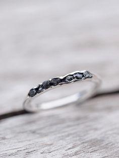 Raw black diamond ring // Hidden Gems - Gardens of the Sun Jewelry
