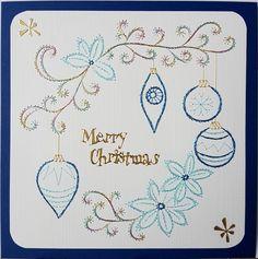 Grußkarten-Set Weihnachten 2016_022 -  Motiv: KC 071 Copyright des Motives: KarinsCreations.nl Doppelkarte mit Umschlag 13,5 x 13,5 cm