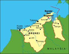Brunei map -