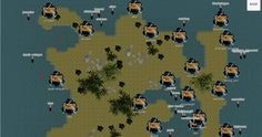 part of a Sector map showing some of the bases and fleets
