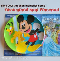 DIY Disney Craft: Placemats from Disney park maps.  (And for even more sturdiness, you might want to attach the map to a piece of mat or poster board before enclosing in the contact paper).