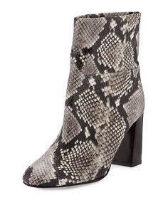 Devon Snake-Print Leather Boot, Black/White by Tory Burch at Neiman Marcus.