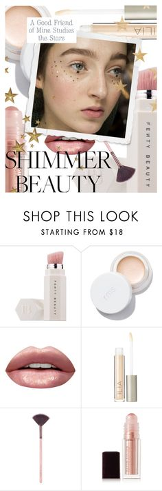 """""""Shine On: Shimmer Beauty"""" by cultofsharon ❤ liked on Polyvore featuring beauty, Puma, Huda Beauty, Ilia, Luxie, Kevyn Aucoin and Friend of Mine"""