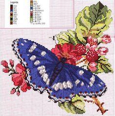 blue butterfly cross stitch