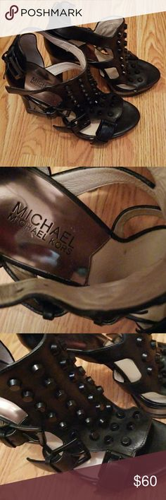 Women's shoes Gorgeous, sexy shoes.High heel, platforms. They are just sitting in my closet because they are to small for me, :(. Would love for someone to be enjoying them. Never worn. Michael Kors Shoes Platforms