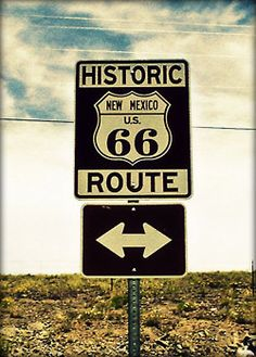 Historic Route 66 - America's Highway. Runs from Chicago to Santa Monica.