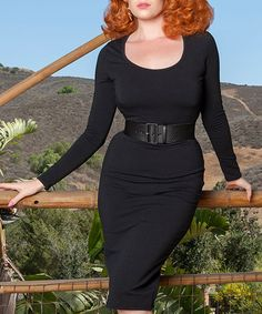Look at this #zulilyfind! Black Hot Rod Bodycon Dress - Plus Too by Pinup Girl Clothing #zulilyfinds