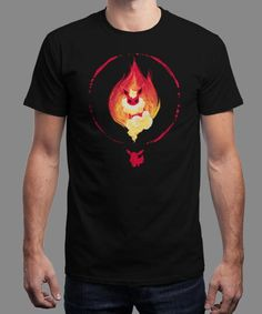 """Choose Fire"" is today's £8/€10/$12 tee for 24 hours only on www.Qwertee.com Pin this for a chance to win a FREE TEE this weekend. Follow us on pinterest.com/qwertee for a second! Thanks:)"