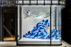 Hermès Making Waves windows by Isabelle Daëron Tokyo Japan