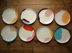 I love Sydney Albertini's Abstract Collection. The organic, almost watercolour shapes are gorgeous works of ceramic art. From plates to bowls to cake stands and with dozens of hue options, there are endless colour combinations possible to ins .