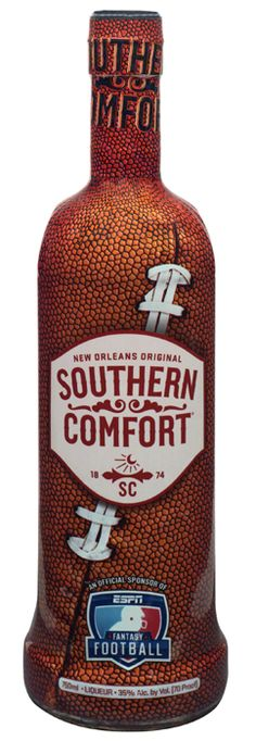 Football-wrapped bottle from Southern Comfort.
