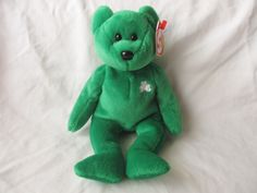 Vintage Beanie Baby Erin the Bear St. Patricks Day Irish Bear by jclairep on Etsy