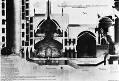 JEAN-JACQUES LEQUEU, SUBTERRANEAN LABYRINTH FOR A GOTHIC HOUSE