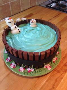 Best Image of Olaf Birthday Cakes . Olaf Birthday Cakes Olaf And Friend In The Hot Tub Drinking Cocoa Birthday Cake For Best Image of Olaf Birthday Cakes . Olaf Birthday Cakes Olaf And Friend In The Hot Tub Drinking Cocoa Birthday Cake For Olaf Birthday Cake, Frozen Birthday Party, Olaf Party, Birthday Cake For Kids, Birthday Ideas, Birthday Parties, Turtle Birthday, Turtle Party, 4th Birthday
