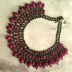 Check out this item in my Etsy shop https://www.etsy.com/listing/223597348/fuchia-quartz-stone-necklace-beadwork