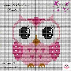 Cross Stitch Owl, Cross Stitch For Kids, Cross Stitch Cards, Cross Stitch Animals, Cross Stitching, Cross Stitch Embroidery, Cross Stitch Patterns, Owl Quilts, Baby Quilts