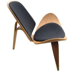 Vintage Midcentury Hans Wegner Skalstol Shell Chair for Carl Hansen | From a unique collection of antique and modern lounge chairs at https://www.1stdibs.com/furniture/seating/lounge-chairs/