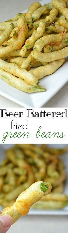 Tender fresh green beans dipped in a beer batter and fried to perfection.