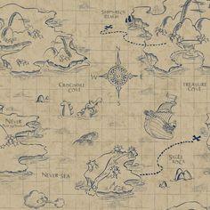 Walt Disney Kids II Pirate Map Wallpaper   Wayfair