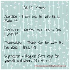 acts prayer blue
