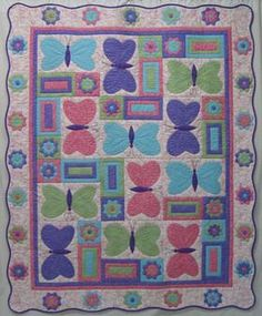 Butterfly Quilt- love the colors