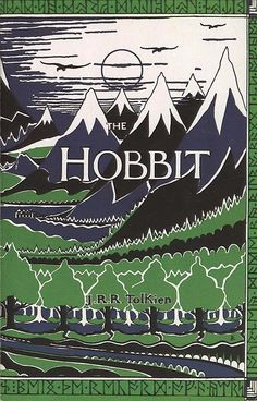 #tolkien  This was my first Tolkien read. This is what it looked like. Hardback, wrapped in that protective library plastic. I read the 3 Rings that followed it. I fell in love. Don't get me wrong, I loved the movies. But the books... Let's just say I loved Tolkien before he was a big production.