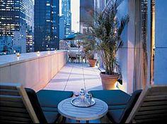 Outdoor terrace in NYC