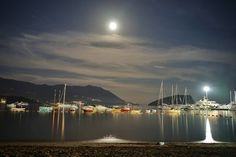 The quiet into the mess #budva #montenegro #night #sea #adriatic #travel #travelphotography #harbour #moon #boats #summer #summer2016
