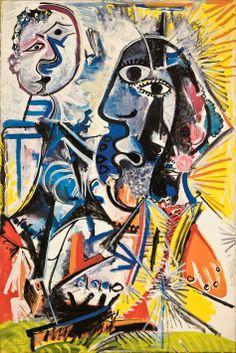 """Esta tela chama-se ❝Cabeças Grandes❞ e foi pintada em 1969 por 'Pablo Picasso'. Está em exposição no CCBB de São Paulo até o dia 21/04/14, na mostra denominada """"""""Visões na Coleção Ludwig"""", a qual é gratuita. Vale muito a pena aprecia-la pessoalmente. (Rua Álvares Penteado, 112 - Centro)"""