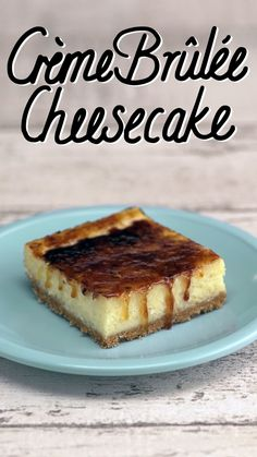 Creamy Cheesecake bars with a caramelised crispy sugar top