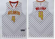 dae91cee2 Atlanta Hawks  4 Millsap White Men 2017 New Logo NBA Adidas Jersey  Throwback Nba Jerseys