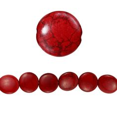 Bead Gallery® Red Howlite Lentil Beads, 20mm - Item # 10140092 - $5.99    Ruby heat-dyed howlite is cut and polished into beautiful lentil beads, which will perfectly accent your jewelry projects.These beads are a natural beauty and are perfect for your one-of-a-kind items like necklaces, bracelets or earrings.     Details: Ruby; 20mm bead; 8 beads; Heat-dyed howlite