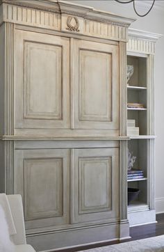 Insane Perfect paint for den tv armoire… French Armoire, Love this cupboard and paint finish. Home Bunch The post Perfect paint for den tv armoire… French Armoire, Love this cupboard and paint… appeared first on Decor For US . French Furniture, Painted Furniture, Distressed Furniture, French Armoire, Tv Armoire, Armoire Design, Tv In Bedroom, French Country House, French Decor